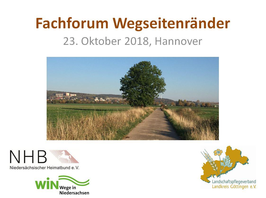 Fachforum Wegeseitenränder am 23.10.2018 in Hannover